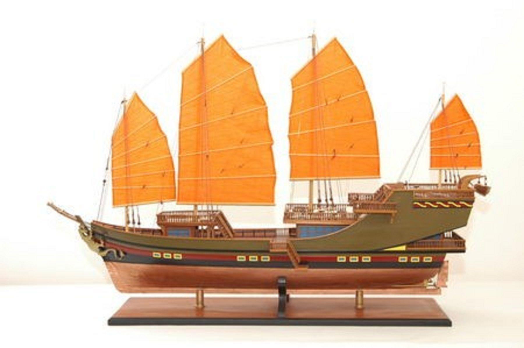 maquette bateau - jonque chinoise  2   gamme sup u00e9rieure