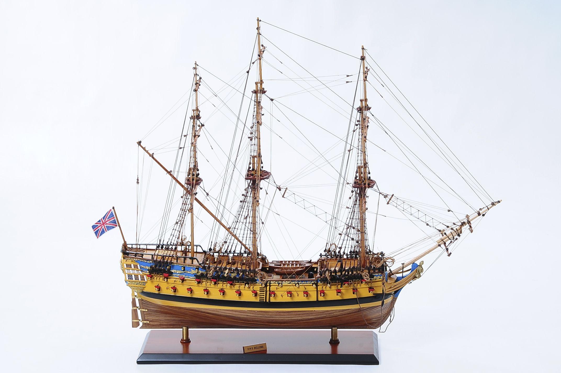 maquette bateau - hms bellona  gamme sup u00e9rieure