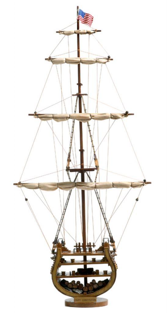 maquette bateau - coupe transversale uss constitution  gamme sup u00e9rieure