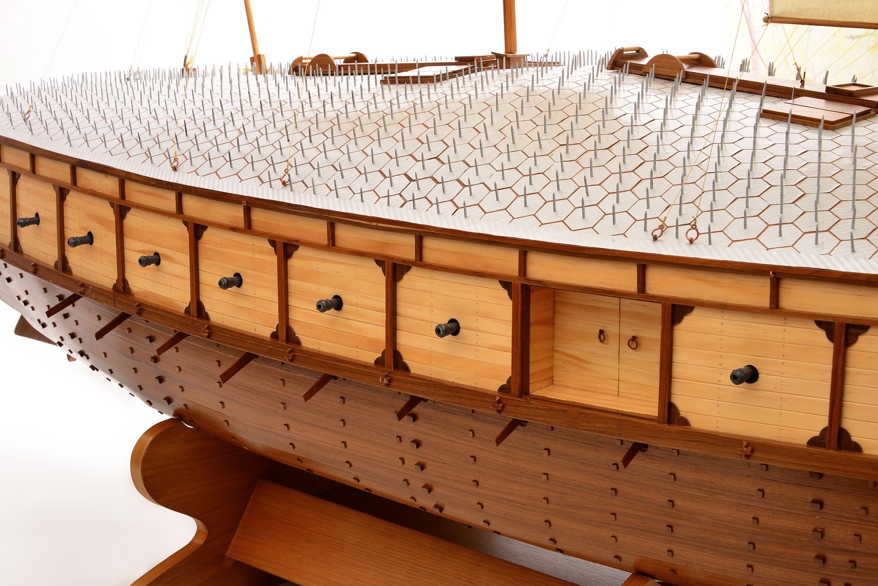 Maquette de Navire de Tortue