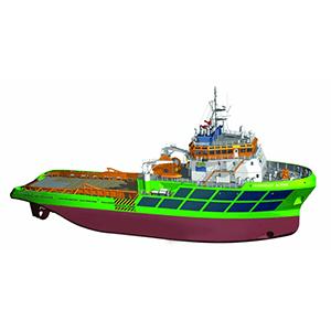 Barge, chalutiers et remorqueurs