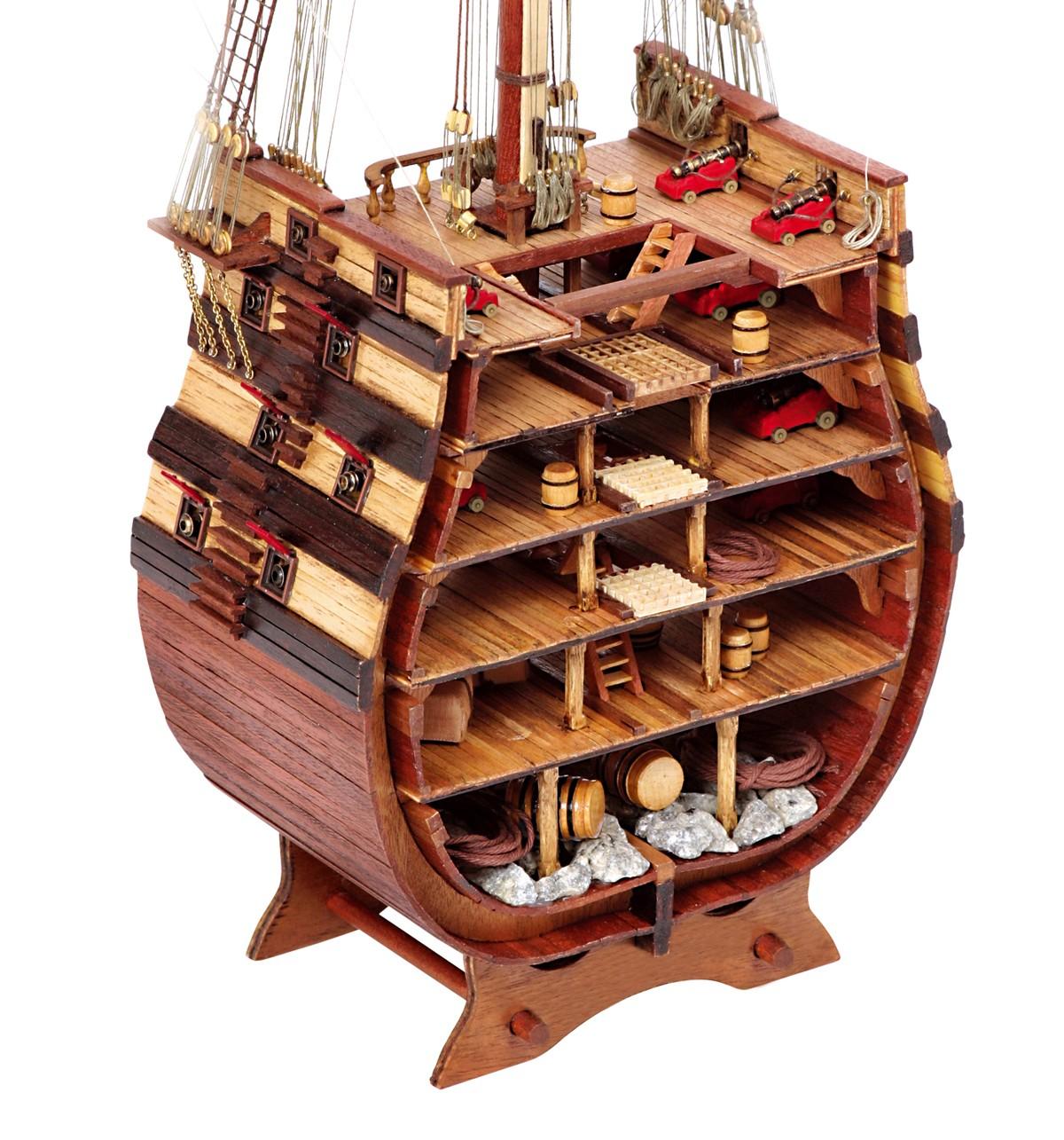 Kit de Maquettes de Bateaux en Coupe Transversale Santisima Trinidad - Occre (16800)