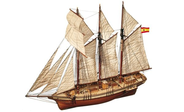 Maquette de bateau modèle Cala Esmeralda Schooner - Occre (13002)