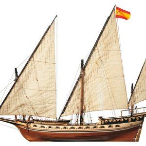 Maquette de bateau en bois Cazador Xebec - Occre (14002)