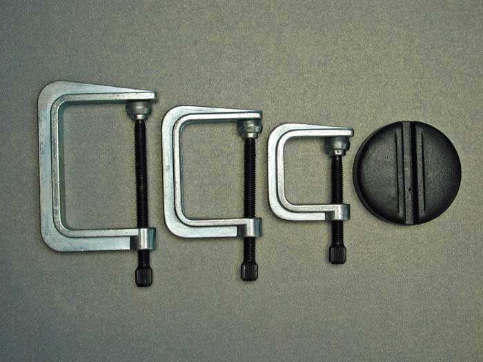 3x G-Clamps 35, 50 & 65mm + Aimant