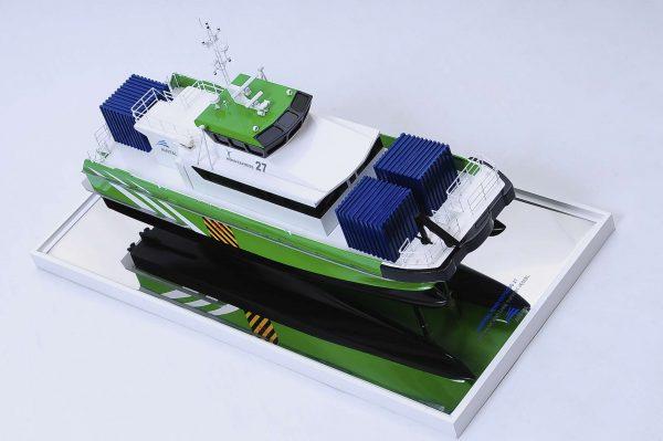 Maquette bateau - Wind Express 27 (navire de soutien en mer)