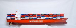 Maquette bateau - Porte-conteneurs Hamburg Sud