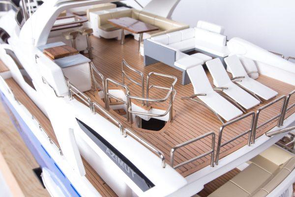 Maquette bateau - Yacht Azimut 95