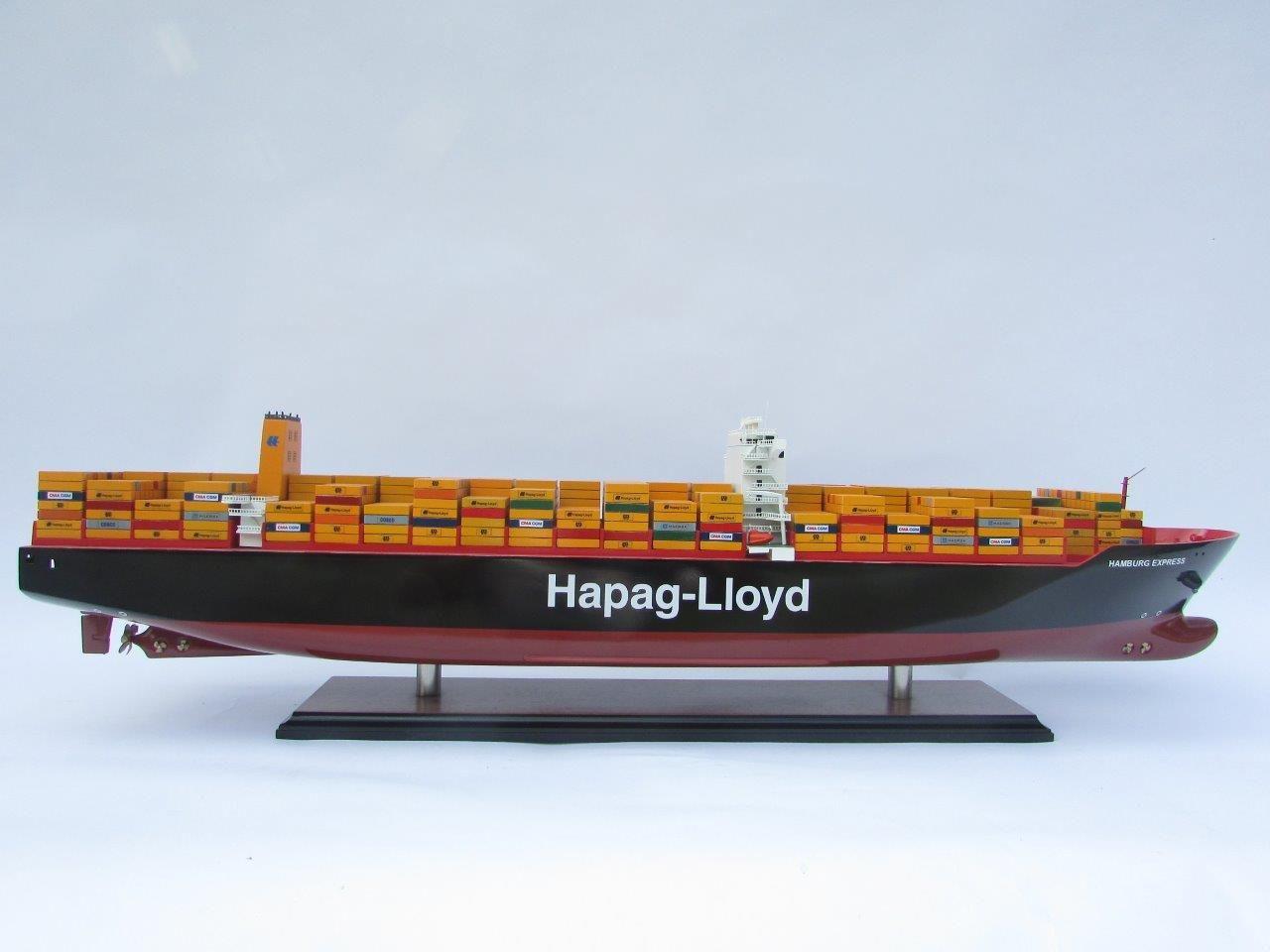 Maquette bateau - Porte-conteneurs Hapag Lloyd Hamburg Express (Gamme Standard) - GN