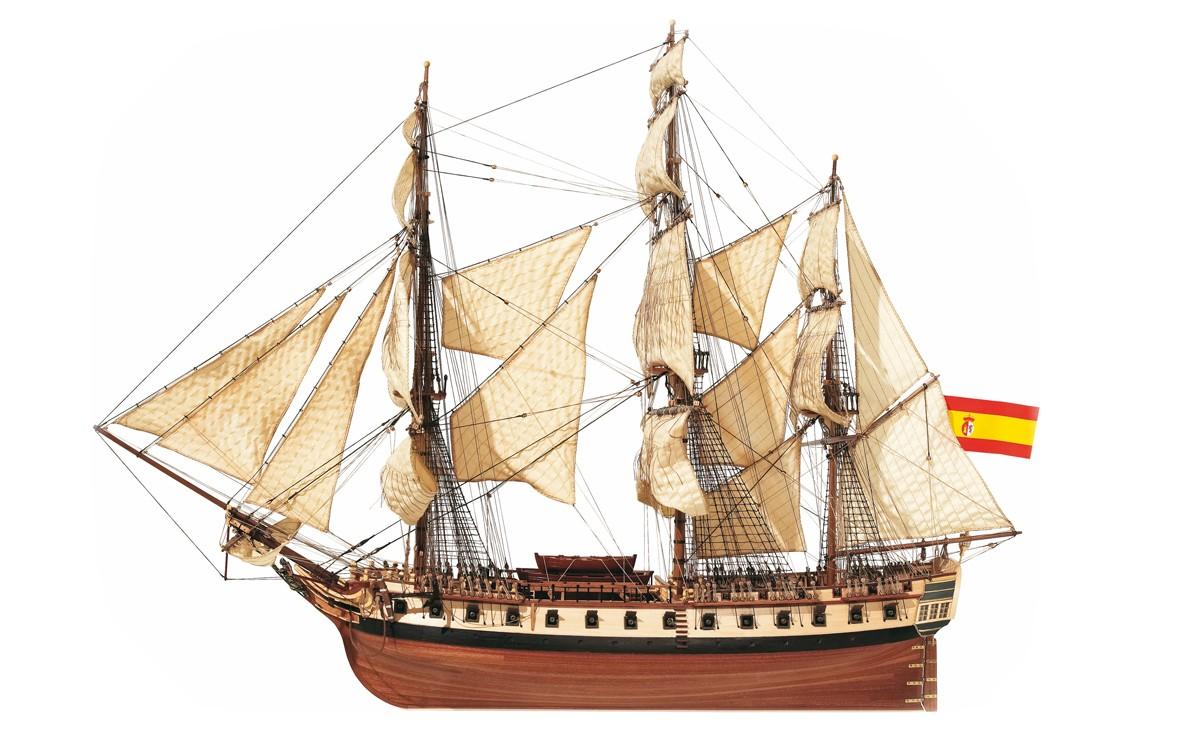Kit de maquette de bateau pour frégate Diana - Occre (14001)