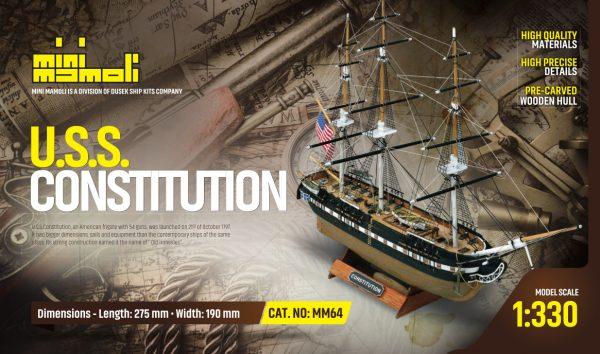 Maquette à Monter: USS Constitution - Mini Mamoli (MM64)