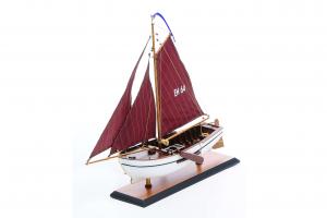 Maquette bateau pêche - Buis Néerlandais (poupe et étrave ronde)