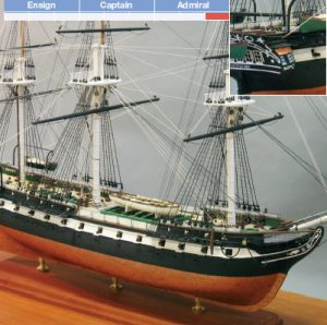 USS Constitution Maquette de Bateau à Construire - BlueJacket (K1018)