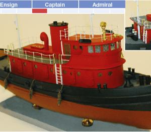 Diesel Tugboat Maquette de Bateau à Construire - BlueJacket (K1080)