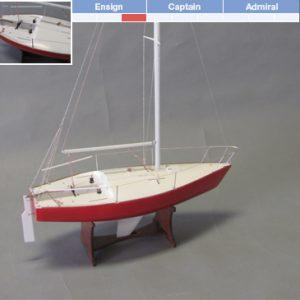 J/24 Yacht Maquette de Bateau à Construire - BlueJacket (K1105)