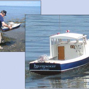 Maine Lobster Boat R/C Maquette de Bateau à Construire - BlueJacket (K204)