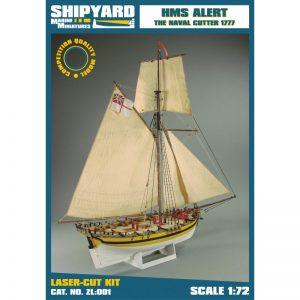 HMS Alert 1777 Maquette à monter - Shipyard (ZL001)