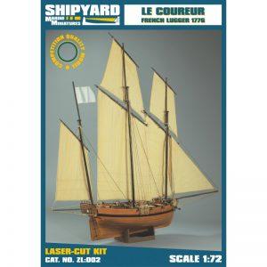 Le Coureur 1776 Maquette à construire - Shipyard (ZL002)