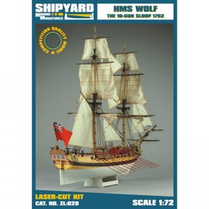 HMS Wolf 1754 Maquette de Bateau à Construire - Shipyard (ZL029)