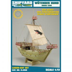 Wütender Hund Kogge 1390 Maquette à construire - Shipyard (ZL050)